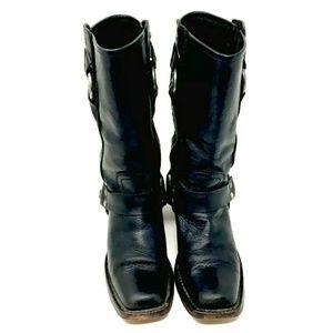 Frye Shoes - Frye Harness Boots Women's Black 6B